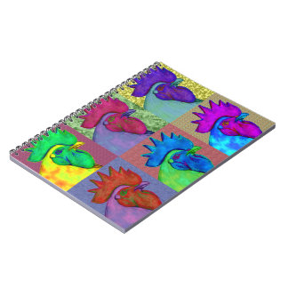 Roosters Gone Wild! Spiral Notebook