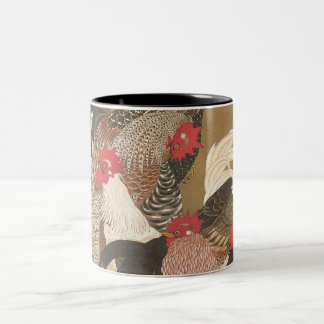 Roosters Japanese Art Rooster Year 2017 Mug 3