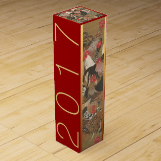 Roosters Japanese painting Rooster Year 2017 Wine Wine Box