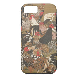 Roosters New Year 2017 Japanese Painting Iphone C iPhone 8/7 Case