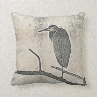 Roosting Heron Cushion