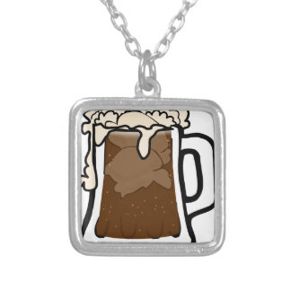 Root Beer Float Silver Plated Necklace