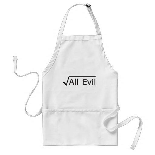 Root of All Evil - Math Humor / Math Geek Aprons