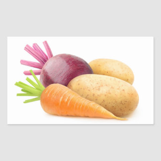 Root vegetables rectangular sticker
