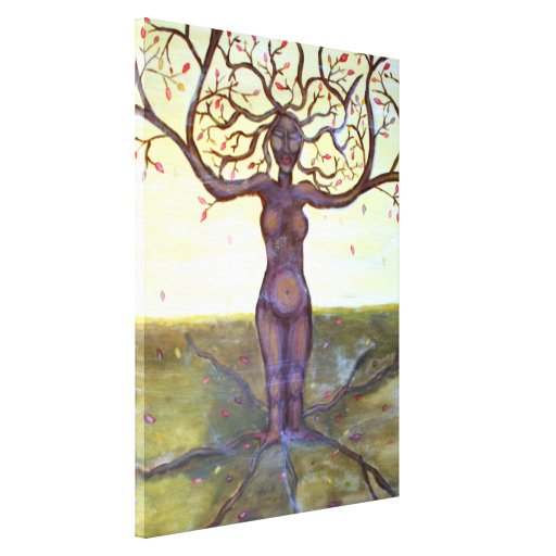 """""""Rooted"""" Tree Goddess Art Canvas Prints"""