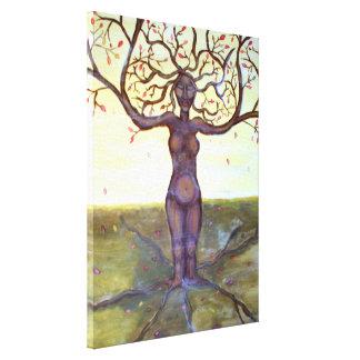 """Rooted"" Tree Goddess Art Canvas Print"