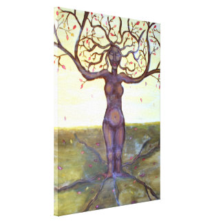 Rooted Tree Goddess Art Canvas Prints