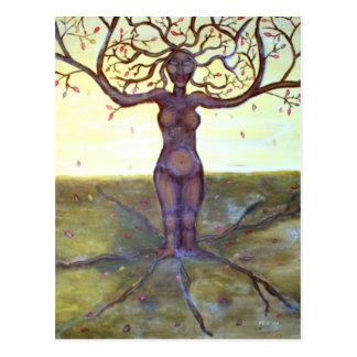"""Rooted"" Tree Goddess Art Postcard"