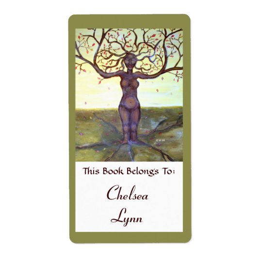 """Rooted"" Tree Goddess Book Label"