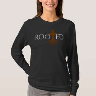 Rooted Women's Long Sleeve T-Shirt (Black)