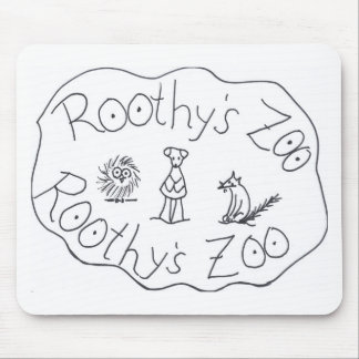 ROOTHY'S ZOO THREE FRIENDS by Ruth I. Rubin Mouse Pads