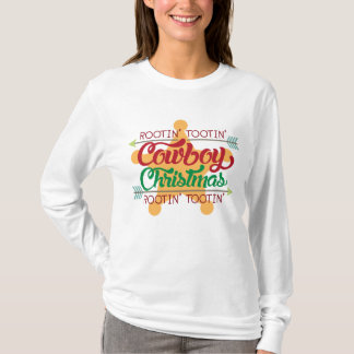 Rootin Tootin cowboy Christmas Holiday t-shirt