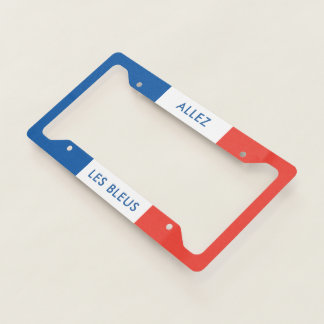 Rooting for France French Soccer or Rugby Fan Flag Licence Plate Frame