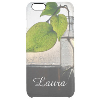 Rooting Plant in a Antique Clear Glass Bottle Uncommon Clearly™ Deflector iPhone 6 Plus Case