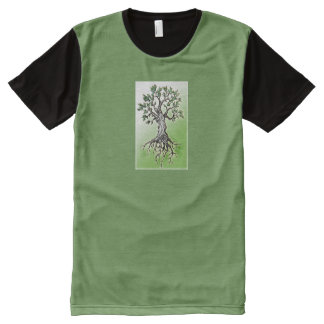 Roots All-Over Print T-Shirt