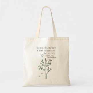 Roots and Wings Inspiring Parenting Quote Tote Bag