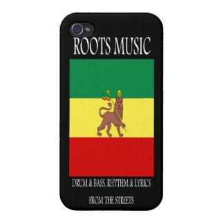 Roots Music Reggae Rasta Case For iPhone 4
