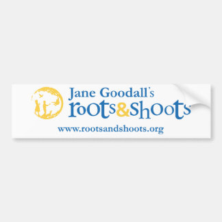 Roots & Shoots Bumpersticker Bumper Sticker