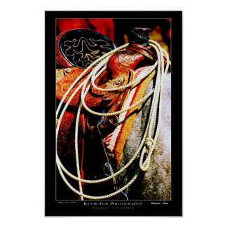 Rope and saddle poster