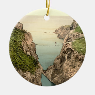 Rope Bridge, Carrick-a-Rede, County Antrim Ceramic Ornament