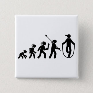 Rope Jumping 15 Cm Square Badge