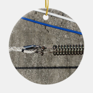 Rope sling with safety anchor shackle ceramic ornament