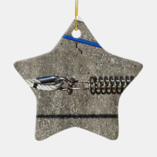 Rope sling with safety anchor shackle ceramic star decoration