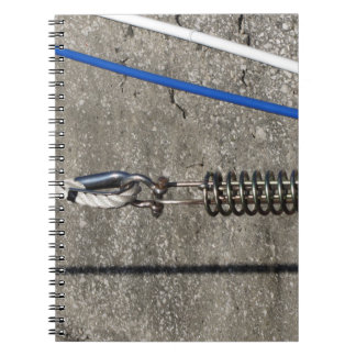 Rope sling with safety anchor shackle notebook