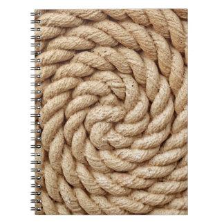 rope, target circle design round mark spiral notebook