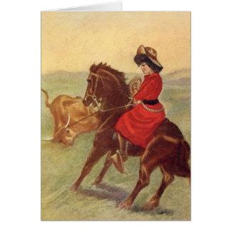 Ropin' Girl Card