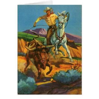 Roping a Steer Card