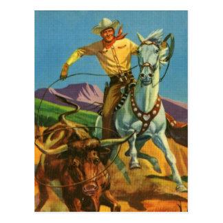 Roping a Steer Postcard