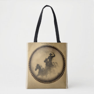 Roping Cowboy Tote Bag