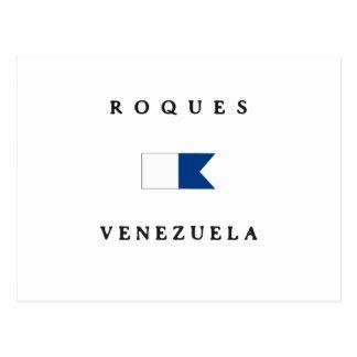 Roques Venezuela Alpha Dive Flag Post Cards