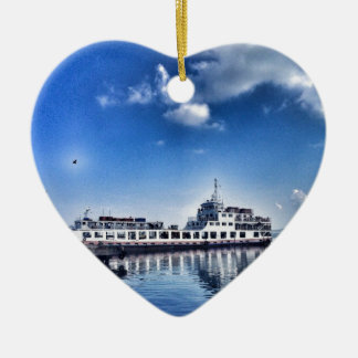 RoRo Travels in The hidden Island  of Philippines Ceramic Heart Decoration