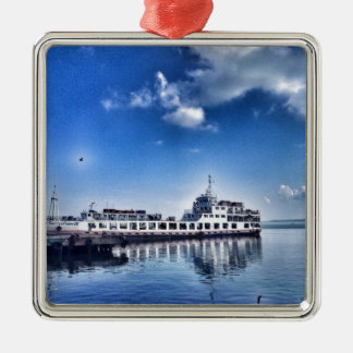 RoRo Travels in The hidden Island  of Philippines Silver-Colored Square Decoration