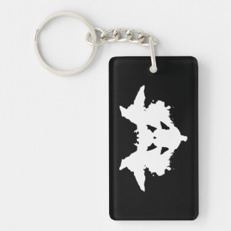 Rorschach Inkblot Key Ring