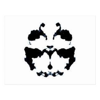 Rorschach inkblot postcard