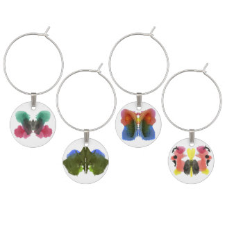 Rorschach Inkblot Test Crazy for Wine Wine Charm