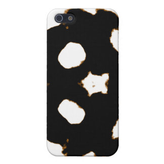 Rorschach Test of an Ink Blot Card in Black iPhone 5/5S Covers