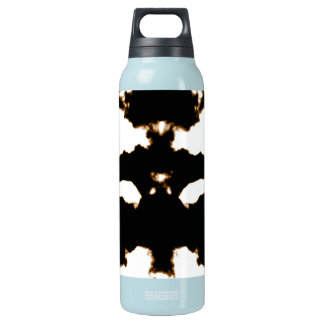 Rorschach Test of an Ink Blot Card on White Insulated Water Bottle