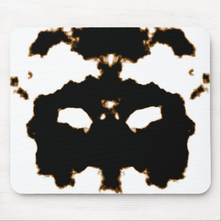 Rorschach Test of an Ink Blot Card on White Mouse Pad