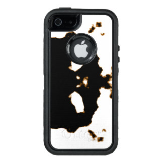 Rorschach Test of an Ink Blot Card on White OtterBox Defender iPhone Case