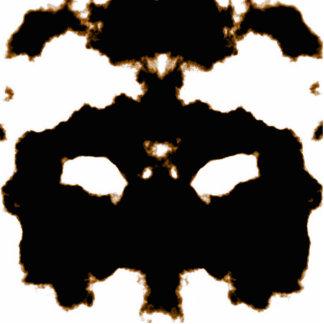 Rorschach Test of an Ink Blot Card on White Photo Sculpture Badge