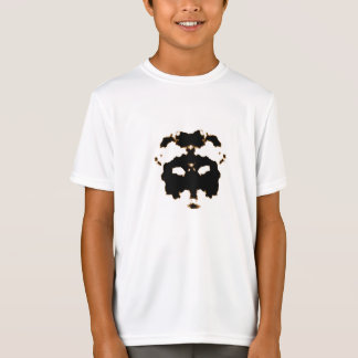 Rorschach Test of an Ink Blot Card on White T-Shirt