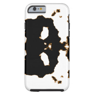 Rorschach Test of an Ink Blot Card on White Tough iPhone 6 Case