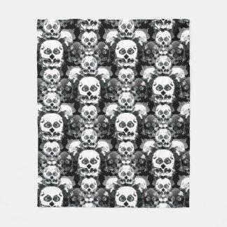 Rorshach Skull Pattern Fleece Blanket