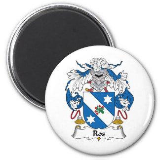 Ros Family Crest 6 Cm Round Magnet