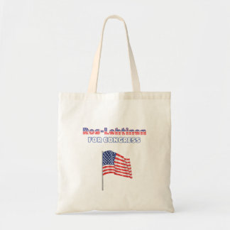 Ros-Lehtinen for Congress Patriotic American Flag Canvas Bags