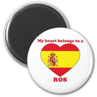 Ros 6 Cm Round Magnet